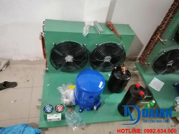 Quy trình dựng các thiết bị cho dàn nóng kho lạnh bảo quản